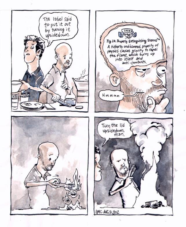 Comic: Burning Down the House (See transcript for description)